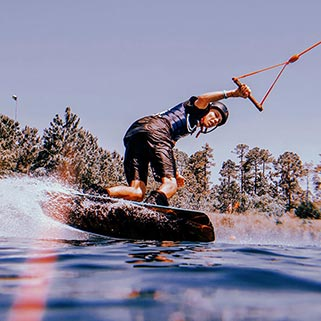 Image of Person Wakeboarding